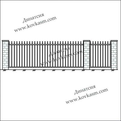 Ворота и калитка арт. 5001