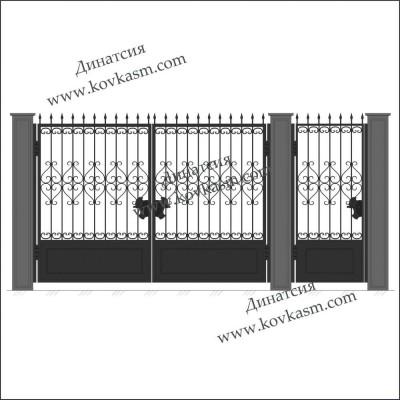 Ворота и калитка арт. 5005