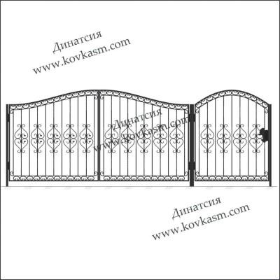 Ворота и калитка арт. 5007