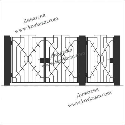 Ворота и калитка арт. 5012
