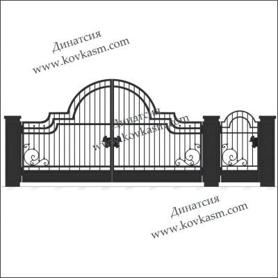 Ворота и калитка арт. 5013