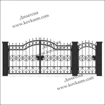 Ворота и калитка арт. 5014