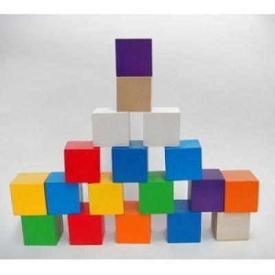 Кубики цветные (18 штук)