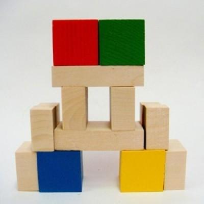 Конструктор Кубик и его части (14 деталей)
