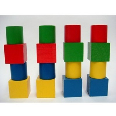 Набор геометрических фигур цветной (16 штук)