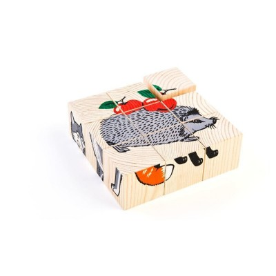 Сложи рисунок: Животные леса (кубики)